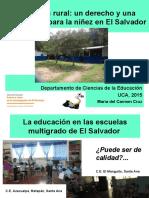 UCA Feria Investigación Educ Rural Un Derecho y Una Oportunidad en El SalvadorFinal MC 5-11-15