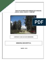 Diseño de La Redes Electricas Primarias Secundaria y Alumbrado Publico