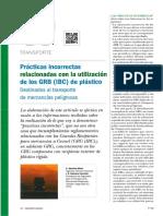 509-076 Prácticas Incorrectas Relacionadas Con La Utilización de Los GRB (IBC) de Plástico