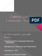 Communicative Language Teaching Present Are