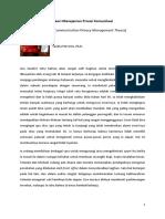 Teori Manajemen Privasi Komunikasi (Definisi, Asumsi, Konsep, Aplikasi)