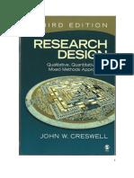 Cresswel. (2009). Diseño de Investigación; Métodos Cualitativo, Cuantitativo y Mixto