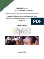 Evaluation of Online Formative Assessmen