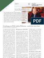 Fachartikel Gestaltung W3C valider Webseiten