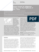 The Role of Montane Forests for Indigenous Dongba Papermaking in the Naxi Highlands of Northwest Yunnan, China