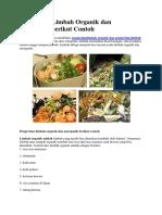 Pengertian Limbah Organik Dan Anorganik Berikut Contoh