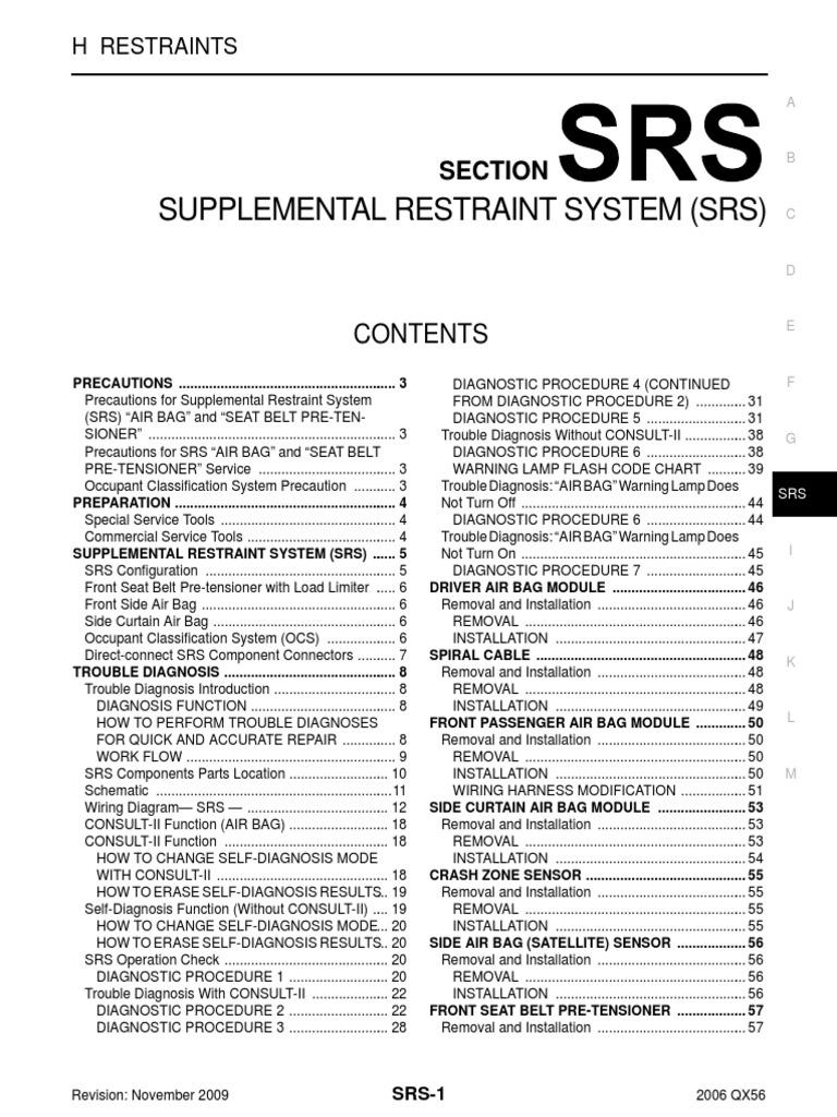 Nissan Sentra Service Manual: SRS Air bag warning lamp does not turn ON