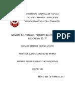 Reporte de Conferencia de Educacion 2017