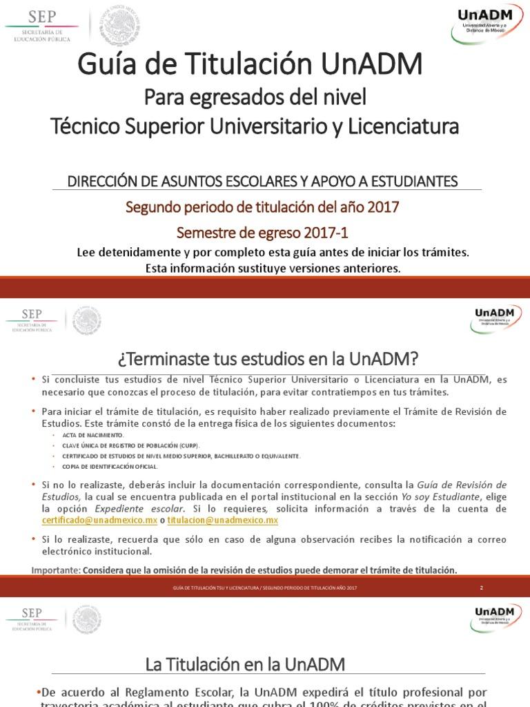 1. Guía de Titulación UNADM_Julio 2017