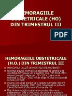 Curs-hemoragiile Obstetricale (Ho) Din Trimestrul III
