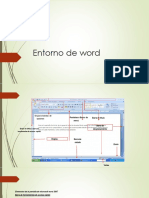 Entorno de Word
