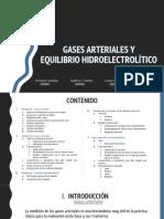 Gases Arteriales y Equilibrio Hidroelectrolítico