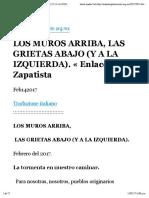 Los Muros Arriba, Las Grietas Abajo (y a La Izquierda). _ Enlace Zapatista