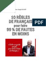 10 r Gles de Fran Ais Pour Faire 99 de Fautes en m