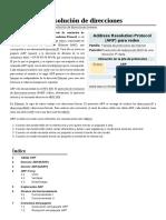 Protocolo de Resolución de Direcciones