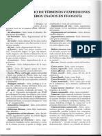 1.Vocabulario de Términos y Expresiones Extranjeros Usados en Filosofía