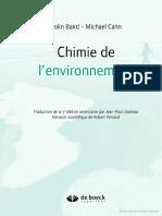 Chimie de l'Environnement 1
