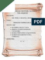 Monografia Informe Derecho Empresarial
