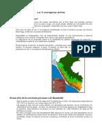 11 Ecorregiones Peru