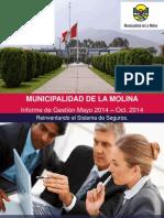 Informe de Gestion Abril - Octubr 2014 (1era Parte) (1)