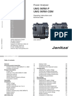 Janitza Manual UMG96RM P CBM 20 250V En