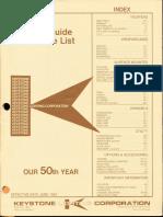 Keystone Lighting Ordering Guide & Price List 1981