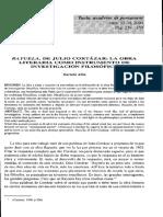 RAYUELA JULIO CORTÁZAR - Ensayo