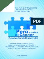Norma Técnico-Oncológica_Prev. Detec_Manejo de Lesiones Premalignas_Cuello Uterino