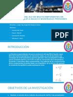 Evaluación Del ELV de Multicomponentes