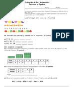 Evaluación de Patrones y Algebra