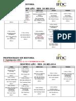 Horarios Historia 2017- Final