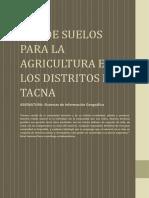 Uso de Suelos Para La Agricultura en Los Distritos de Tacna