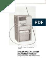 Sequential Air Sampler Envirotech Apm 500
