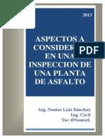 Aspectos a Considerar en Una Inspección de Una Planta de Asfalto - Ing. Nestor Luis Sanchez