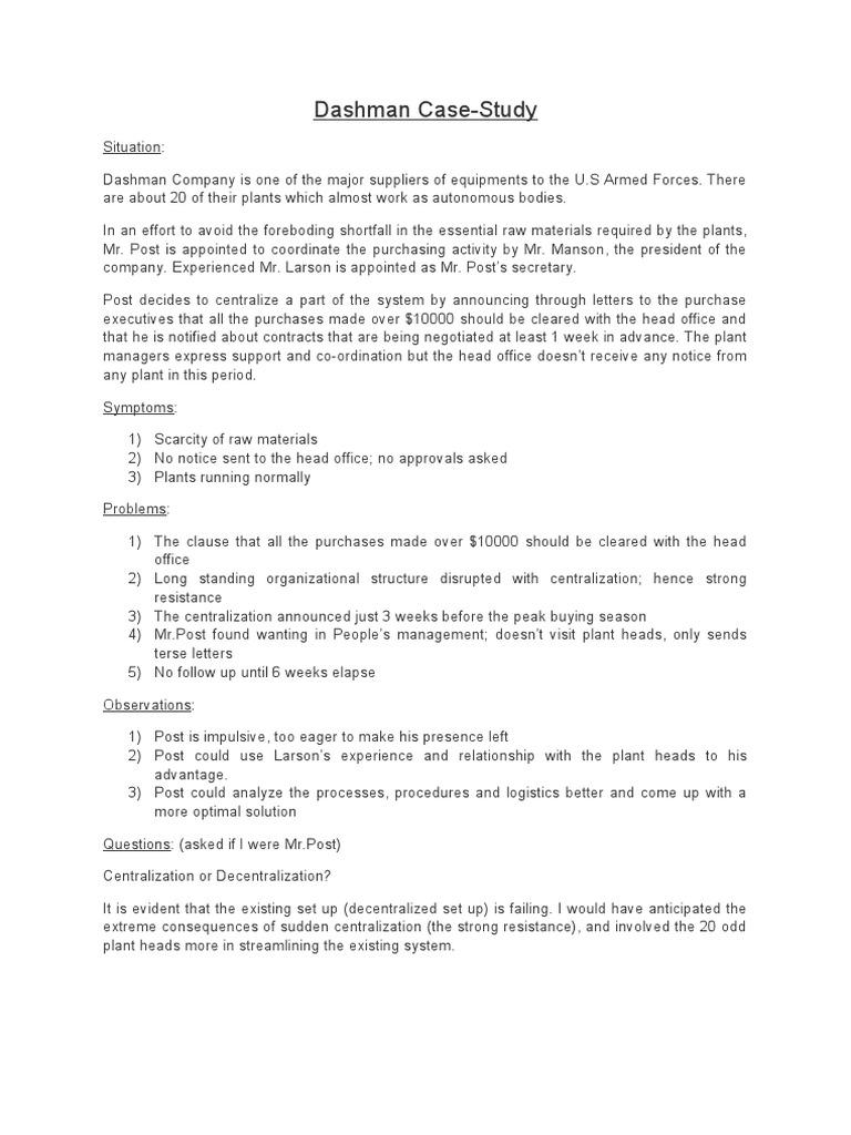dashman case summary