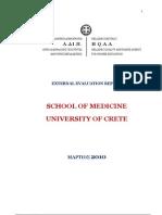 External Evaluation Report-School of Medicine University of Crete