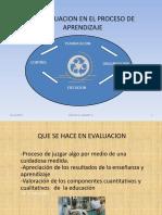 La Evaluacion en El Proceso de Aprendizaje
