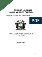 Reglamento de Gradosytitulos Face2013 Aprobado