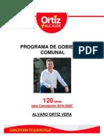 120 Ideas Para Concepcion - Programa de Gobierno Comunal Alvaro Ortiz