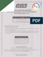 _ec_ Primer Examen Tipo Admisión Unmsm - Anual San Marcos - De - 2017