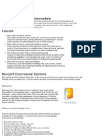 Notes for MSExcel 2007 Intermed
