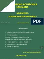 Intorducción a La Automatización Industrial