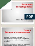Etica Para Investigadores