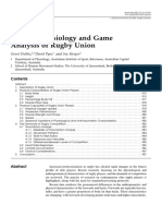 Applied Physiology and Game Analysis of Rugby Union