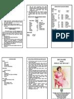 Leaflet Ibu Hamil Sehat&Segar