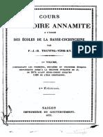 (1875) Cours d'Histoire Annamite - Trương Vĩnh Ký