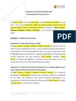 Contrato de Cesión de Derechos de Autor Defem Pi Cda