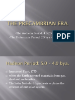 The Precambrian Era