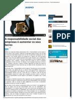FRIEDMAN - A Responsabilidade Social Das Empresas é Aumentar Os Seus Lucros - Portal Libertarianismo