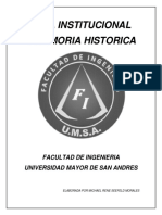 Guía Institucional y Memoria Histórica Ingeniería Automotriz, Facultad de Ingeniería, UMSA,